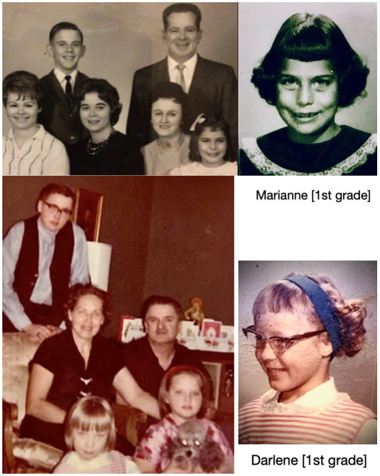 Old family pictures - Marianne and Darlene have been friends since 1st grade